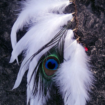 Bride Of Tatewari peacock & coque feather antiqued by pareket