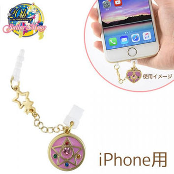 Sailor Moon Character Lightning Pin with Earphone Jack Accessory W Plug Type (Crystal Star Compact)