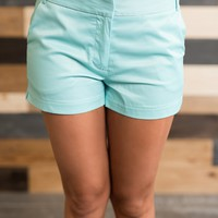 Gia Mid Rise Short (Mint)