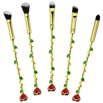 Beauty and the Beast Brush Set - Gold