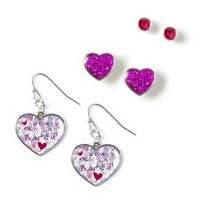 WMYB Drop and Stud Earrings by Lyrix Set of 3  | Claire's