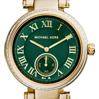Women's Michael Kors 'Skylar' Crystal Bezel Bracelet Watch, 42mm