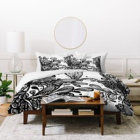 Julia Da Rocha Wild Leaves Duvet Cover