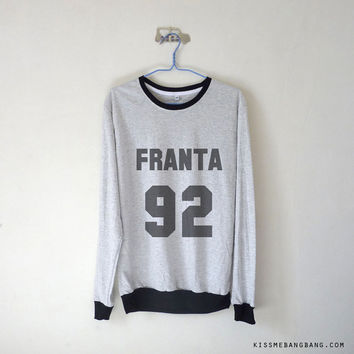 Franta 92 Long Sleeve Tshirt / Connor Franta / Youtuber Shirt / Vine / Tumblr / Plus Size