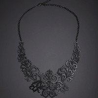 Vintage Filigree Bib Necklace