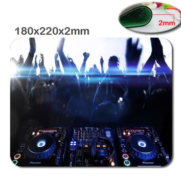 Mairuige Non-slip Choose Custom  fast Print  DJ music  Size180mmx220mm x2mm gaming mouse The fashion design Mouse Pad Mousepad