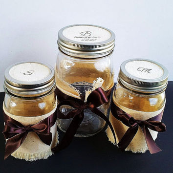 Rustic Country Wedding Sand Unity Ceremony Mason Jar Set 2