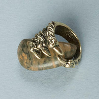 Sterling Bronze Ring – Men's Ring – Women's Ring – Dragon Talon Ring – Adjustable Ring – Claw – Demon – Fantasy – Thumb Ring