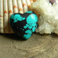 Beautiful Natural Turquoise Heart Cabochon