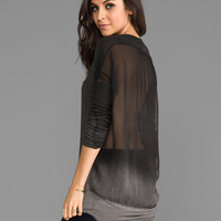 Young, Fabulous & Broke Ada Vintage Ombre Top in Black