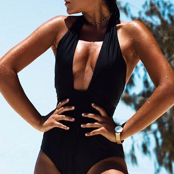 Cupshe Eternal Mystery Solid One-piece Swimsuit