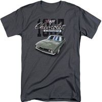 Chevy Men's  Classic Camaro T-shirt Tall Charcoal