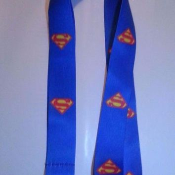 Brand New Superman Logo Blue Lanyard