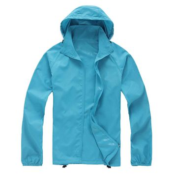 New Arrival Outdoor Unisex Cycling Running Waterproof Windproof Hiking Jackets Rain Coat Size XS-XXXL 15 Colors