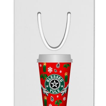Blessed Yule Red Coffee Cup Aluminum Paper Clip Bookmark by TooLoud