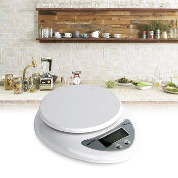 2018 LCD Display Digital Kitchen Scale Electronic Weight Balance F