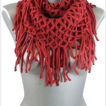 Fringed Infinity Scarves