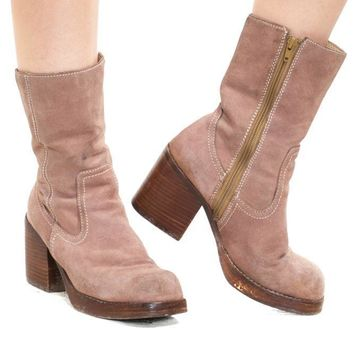 Vintage 90's Blank Paige Chunky Boots - US 7