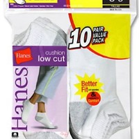 Hanes Cushioned Women`s Athletic Socks Low-Cut