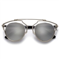 Designer Inspired Pantos Shape Real Light Frame Architectural Design Sunglasses