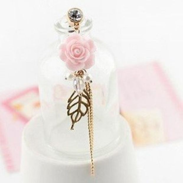 9mm Italian Charms  E34 Love Story with Rose Fits Classic Size Bracelet