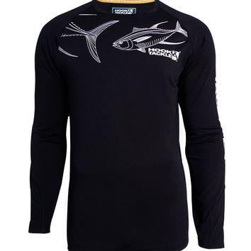Men's Tuna Sketch Vented L/S UV Fishing Shirt