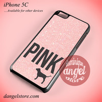 Light Glitter Pink Victoria's Secret Phone case for iPhone 5C and another iPhone devices