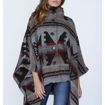 Dream Catcher Aztec Poncho
