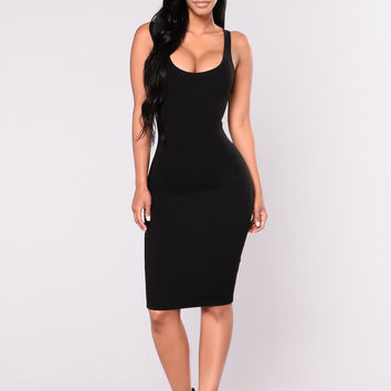 Julia Bodycon Dress - Black