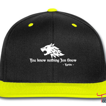 You know nothing Jon Snow (Game of Thrones) Snapback