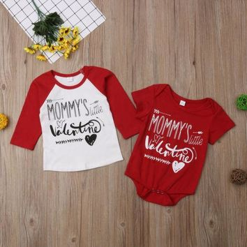 Big Brother T-shirt Little Brother Bodysuit Family Matching Valentine Tops Clothes Outfits Cotton Casual Outfits