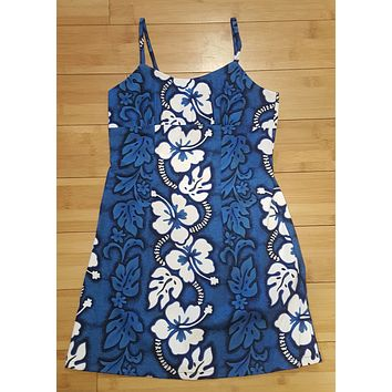 KY's Hawaiian Blue Girls Aloha Dress