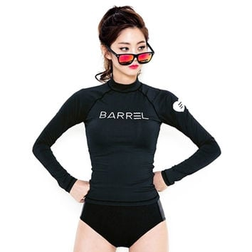 Diving Suit Surfing Long Sleeve Slim Black Suit   S
