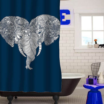 elephant punch trunk love custom shower curtain