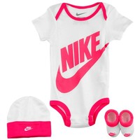 Nike 3 Piece Graphic Onesuit Set - Girls' Infant at Kids Foot Locker
