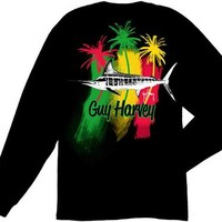 Guy Harvey Striper Long Sleeve Back-Print T-Shirt