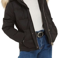Topshop Jerry Faux Fur Trim Puffer Jacket | Nordstrom