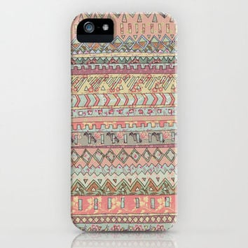 FLORAL AZTEC PATTERN: PASTEL iPhone Case by Bethany Naylor | Society6