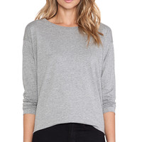 DemyLee Sawyer Long Sleeve Tee in Gray