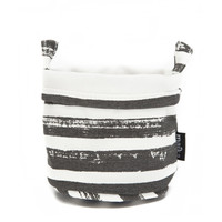 Stripes Charcoal Recycled Canvas Bucket