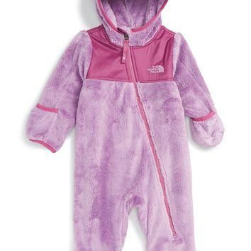 The North Face 'Oso' Hooded Fleece Romper (Baby Girls) | Nordstrom