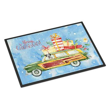 Merry Christmas Dalmatian Indoor or Outdoor Mat 24x36 CK2452JMAT