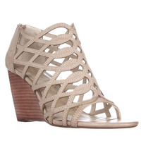 Adrienne Vittadini Footwear Arndre Wedge Caged Sandals - Soft Wheat