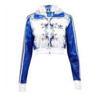 ADIDAS Fashion long sleeve print flower coat