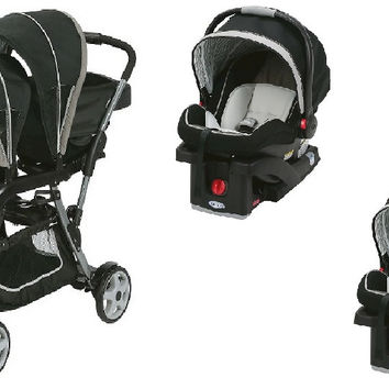 Graco Pipp Baby, Infant Double Twin Stroller Travel System with 2 Infant Car Seats