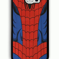 Samsung Galaxy S6 Case - Rubber (TPU) Cover with Spiderman Costume Funny cover phone Rubber case Design