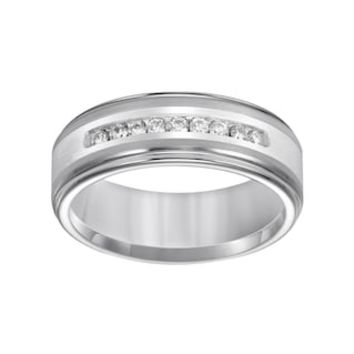 Lovemark Tungsten and Sterling Silver 1/4-ct. T.W. Diamond Men's Wedding Band | null