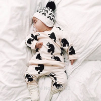 Autumn Fashion baby boys girls clothes set carters long-sleeved cartoon Newborn baby Romper jumpsuit roupas de bebe