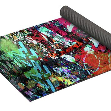 Graffiti And Paint Spray Yoga Mat