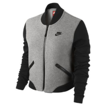Nike Tech Fleece 3mm Bomber Women's Jacket Size XL (Grey)